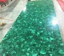 """30""""X20"""" Green Marble Table Top Coffee Dining Center Inlay Lapis Malachite"""