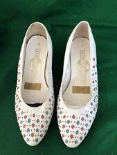 Vintage 1980's White Court Shoe Size 4