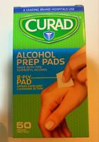 Curad Wipes 70% Isopropyl Alcohol Hand Wipes, Box 50 Count