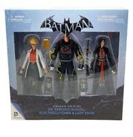 DC Batman Arkham Harleen Quinzel Figure 3 pk Harley Quinn Statue Joker NEW! BTAS