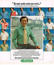 PUBLICITE ADVERTISING 124  1977  LA REDOUTE   chemise homme  HERVE DUCHENE