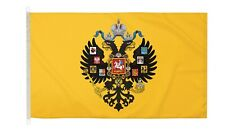 More details for duraflag russian imperial russia 5ft x 3ft flag with clips and hooks