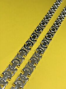 """925 Genuine Sterling Silver Mens Solid 8mm Byzantine LINK CHAIN 22"""" BRAND NEW"""