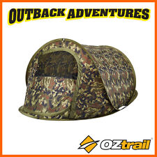 OZTRAIL BLITZ 2 TACTIX CAMO POP UP TENT 2 PERSON INSTANT QUICK PITCH TENT SHADE