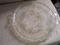 "Mikasa Walther Glas Crystal Cake Plate 13 3/4"" Angelique Pattern GERMANY"