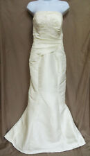 ALLURE BRIDALS 8459 Ivory Buttons Back Floral Lace Mermaid Wedding Dress 4 XS S