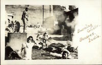 Burning Ghat - Benares India Amateur c1910 Real Photo Postcard rtw