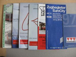 7 Austrian Bus Tram & Railway Train Timetables & Maps 1993-2001 IVB VVT VOR