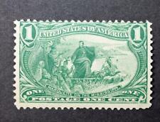 U.S. Scott 285 Trans-Mississippi 1898 Issue 1 Cent Stamp Green Mint NH CV$70 scg