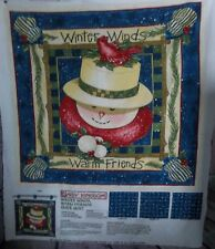 """""""DAISY KINGDOM"""" Fabric Panel, Winter Winds Warm Friends Quick Quilt, Super Easy"""