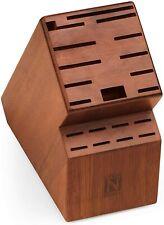 Cook N Home knife storage block, 20 slots, Acacia wood