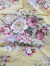 Ralph Lauren Brooke Twin Fitted Bed Sheet Yellow Flowers Pink  Bouquet  In USA