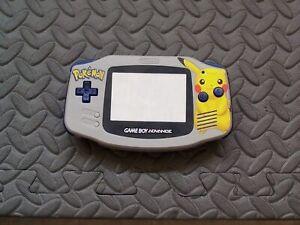 Pikachu Gameboy Advance GBA Replacement Housing Shell Plastic Screen - Gray
