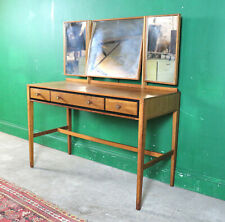 Mid Century Teak Dressing Table, Heals, Retro, Vintage, Desk, Mirror, Bedroom
