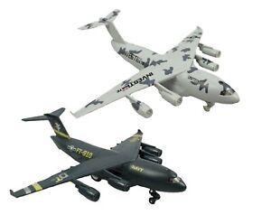 DIECAST PULLBACK AEROTRANSPORT plane toy replica vehicle alloy model play travel