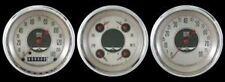 CLASSIC INSTRUMENT 3 GAUGE NICKEL SERIES STREETROD/HOTROD/MUSCLE CAR UNIVERSAL