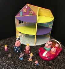 PEPPA PIG PLAY SET LARGE HOUSE CAR SCENE,CAR AND FIGURES TOYS