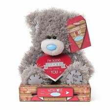 "Me to You 7"" Plush & suerte de tenerte placa Amor Regalo-Tatty Teddy Bear"