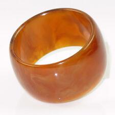 Vintage Bakelite Bracelet Bangle rare honey amber marble color Extra Wide