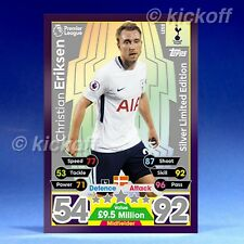 Match Attax 2017-2018: Eriksen SILVER Limited Edition. LE5S. New. Tottenham