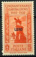 Lero 1932 Sass. 25 Nuovo * 100% Lero Garibaldi
