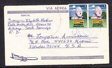 Dominican Republic 1975 Airletter Santa Domingo to Miami
