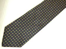 """Brooks Brothers Makers Mens Necktie Tie Navy Blue Red Yellow Green Geometric 57"""""""