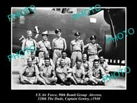 OLD POSTCARD SIZE PHOTO OF US AIR FORCE 90th BOMB GROUP DUDE AIRCREW c1940