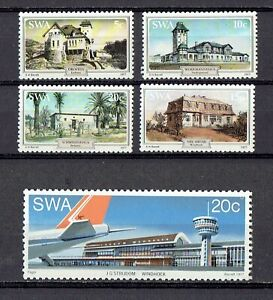 1977 South West Africa (SWA) Historical Buildings set of 4 Sc#406,407/410 MNH