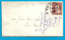 US # 26 F/VF USED ON OPEN ENDED COVER 1861
