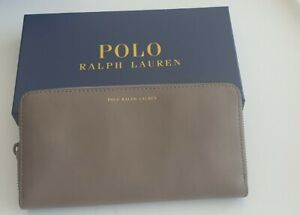 Ralph Lauren Womans Brown Leather Wallet Authentic Unused With Box