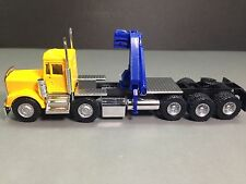 HO 1/87 Promotex 6385 KW W900 Twin Steer Tri-Drive Tractor w/Hoist Yellow/Blue