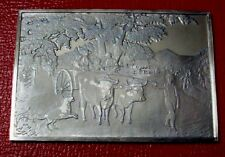 """Currier & Ives """"Haying Time Ingot"""" 1st Load 2.75 oz .999 Silver by Franklin Mint"""