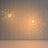 200 LEDs Firework Light Decorative String Lamp Remote Control 8 Modes Foldable