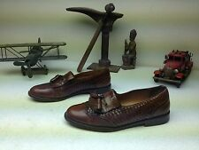 CLASSIC SPAIN BROWN MEZLAN LEATHER WEAVE TASSLE ALICANTE POWER DRIVING SHOE 10 M