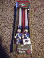 "Robert Alan Nutcracker Christmas 12"" Candles Decor.   holiday wax"