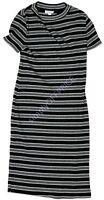 NWT Women's Maternity Short Sleeve Dress Black Gray Liz Lange Size sz XS S M L