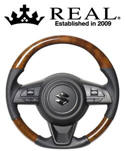 Suzuki Jimny Sierra JB74W 42 brown wood REAL Steering Wheel JDM