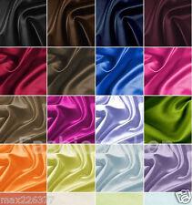 "NEW Satin fabric BY THE YARD 60"" wide bridal wedding decor crafts costume sew"