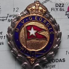 Rare c1931 Enamel Spoon White Star Shipping Line : MV Georgic :Troop Immigration
