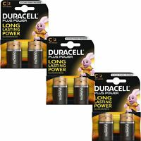 6 x Duracell Plus Power Type C Alkaline Batteries Pack - LR14 MN1400 MX1400 BABY