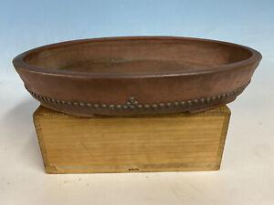 """Handmade Unglazed Bonsai Tree Pot Made By Atsuko 15 5/8"""""""