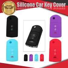 Silicone Car Key Cover 3 Button For MAZDA 3 2 6 MPS SP25 CX5 CX7 CX9 4Colours