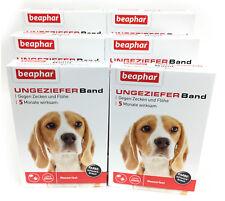 Ungezieferband Hund 6 Packungen Flöhe + Zecken weg - von Beaphar (Flohband) TOP
