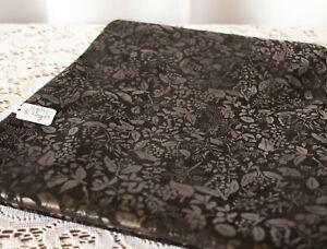 Lambskin Garment Leather Black Italian Floral Print 8.75 Sq Ft