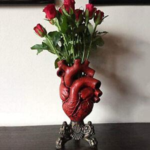 Anatomical Heart Vase Resin Flower Pot Desktop Ornament Home Shelf Table Decor