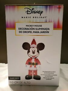 Gemmy Disney Mickey Mouse Lighted Tinsel Yard Sculpture New Christmas 1.96' Tall