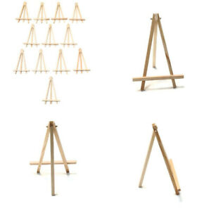 """12-Pack Mini 8"""" Easels Wooden Tripod DIY Art Stand Tabletop Decorative Display"""