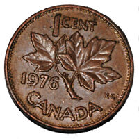 Canada 1976 1 Cent Copper One Canadian Penny Coin