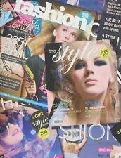 Fashion Magazine papier peint Icône Imprimer Filles Teen chambre Typographie Métallique